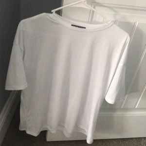 Plain white t-shirt from shein oversized